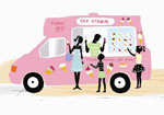 """An ice cream van from the cover image of """"Ice Creams at Carrington's"""""""