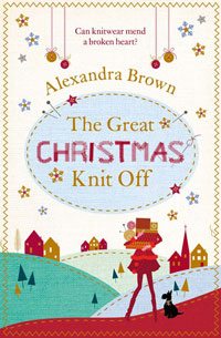 """Cover image of author Alex Brown's book """"The Great Christmas Knit Off"""""""