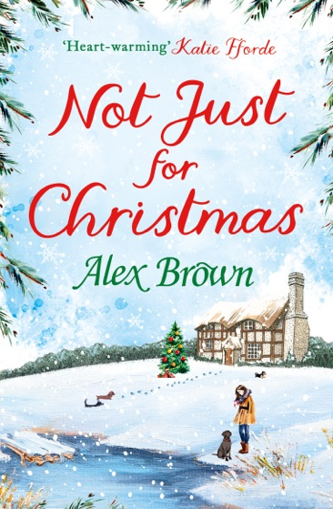 "Cover of Alexandra Brown's book ""Not just for Christmas"""