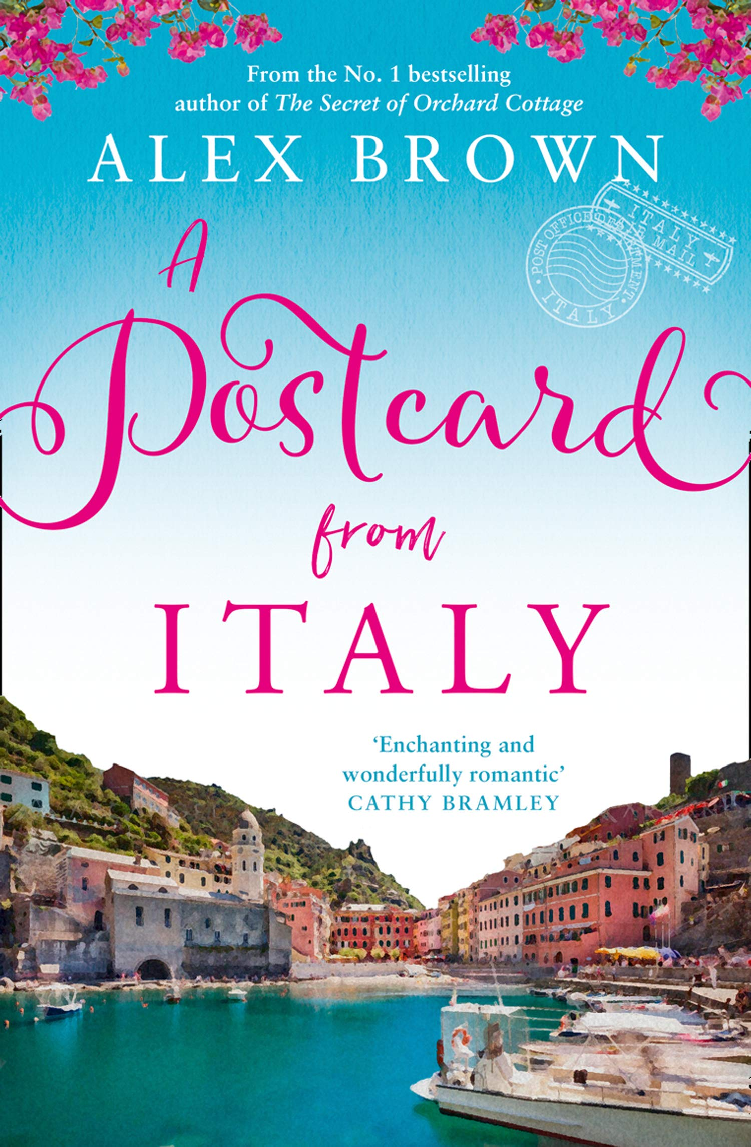"""Cover image of author Alex Brown's book """"A Postcard from Italy"""""""