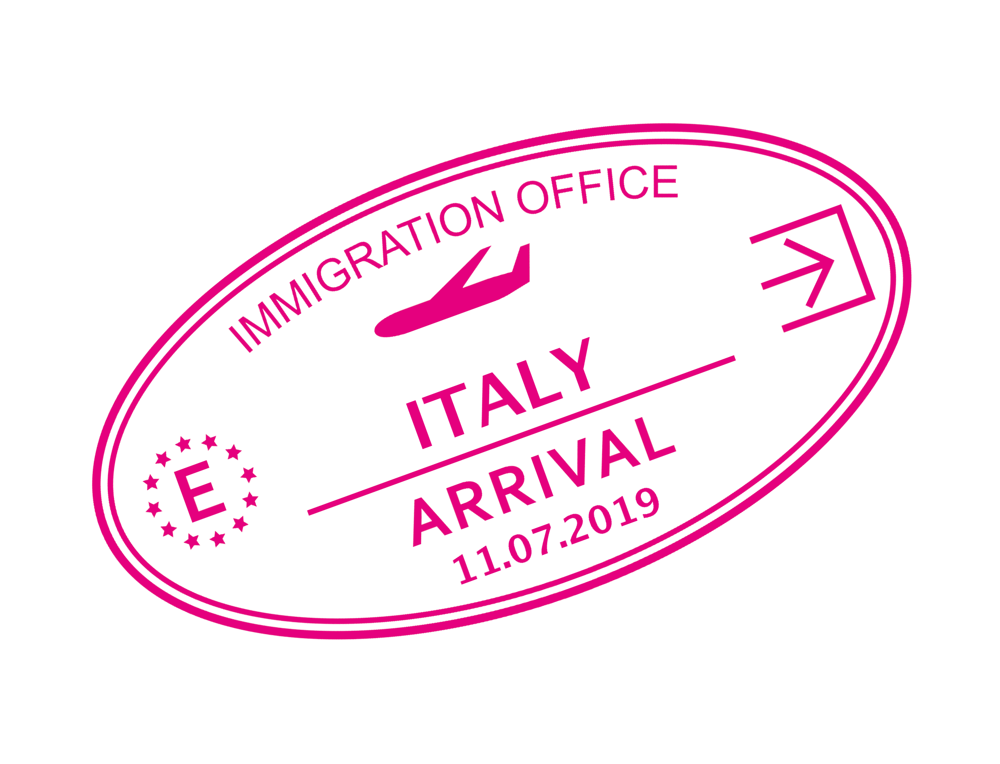 Italy Arrival Stamp