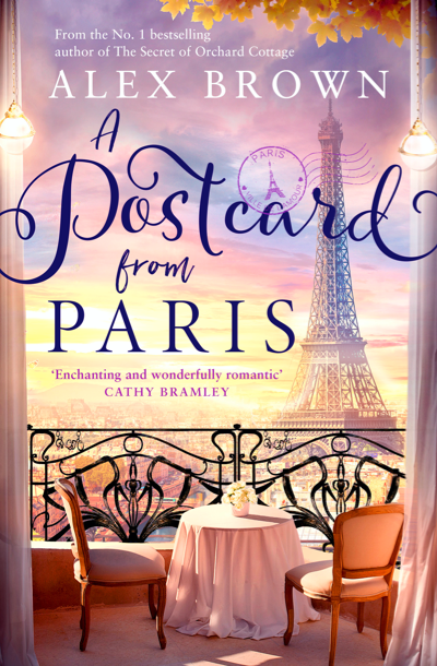 """Cover image of author Alex Brown's book """"A Postcard from Paris"""""""